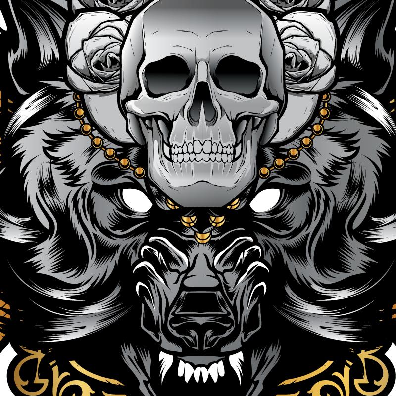 Deco wolf